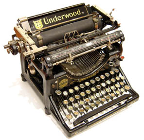 Underwood - Classic Typewriter Page