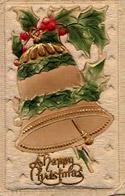 christmas bell postcard