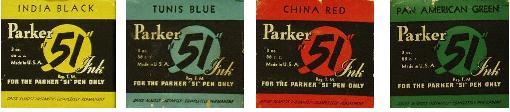 parker 51 inks