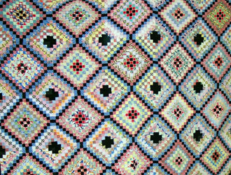 1940s variation on the postage stamp style quilt