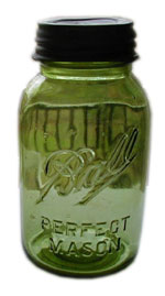 perfect mason ball jar green