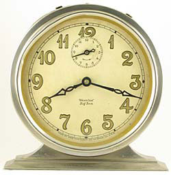 Butler (brushed) nickel case, gold leaf numeral dial: 1930 - 1932