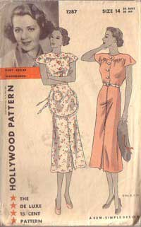 1930s Hollywood pattern