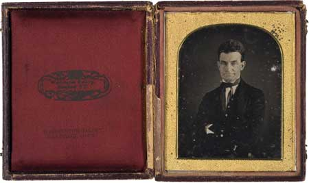 Important Long-Lost Quarter Plate Daguerreotype of John Brown, the Abolitionist, by the African American Daguerreotype Artist, August Washington; $85,000