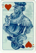 King of Hearts – Tile Card deck, printed by the Speelkaartenfabriek Nederland, Netherlands, 1909 –1912.