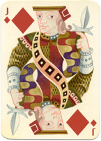 Jack of Diamonds – Designed by Cassandre for Hermès, printed by Draeger, France, 1948.