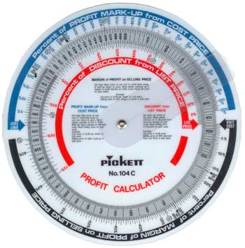Pickett 104-C Profit Calculator - 20.3cm dia