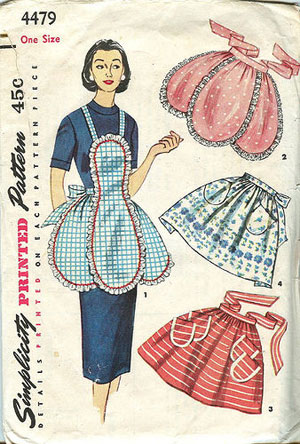 Simplicity printed apron pattern