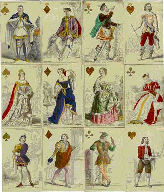 """Cartes Parisienne"" and ""Jeu de Historique"", original deck produced c1840 by O. Gilbert, Paris, France."