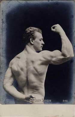 Eugen Sandow, 19th Century prototype strongman, real photo postcard