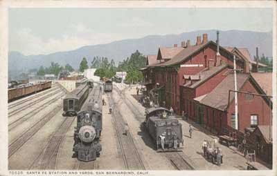 Santa Fe Station and Yards, San Bernardino, Calif., ca. 1910, Unknown Artist, The Metropolitan Museum of Art, Walker Evans Archive, 1994