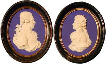 Lord and Lady Auckland (formerly Eleanor Elliot) plaques by Josiah Wedgwood & Sons c. 1800 - Jasperware