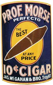 Prof Morse Perfector 10c cigar sign c. 1915