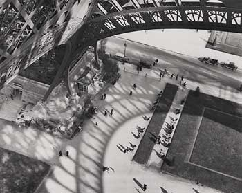 "Andre Kertesz (1894-1985) ""Shadows of the Eiffel Tower."" Silver print 1929; printed 1970s"