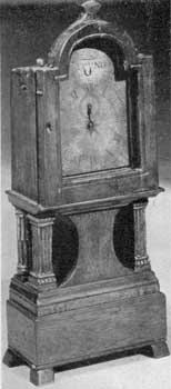 A Grandchild Clock: The movement is a watch. The case 9 1/2 inches tall.