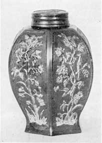 Illustration IV: Boettger Porcelain Tea Caddy: Made from a Chinese model circa 1710