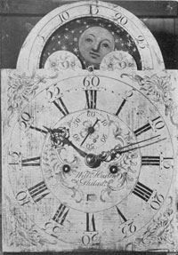 Dial Bearing 'Name of William Huston, Who May Have Learned His Trade in England