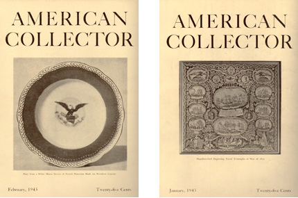 January and February 1943 editions of American Collector Magazine