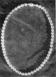 Necklace of Gold Beads: Practically all the 18-Century American goldsmiths made such beads. Some strings were graduated and others had beads of a single size. Some craftsmen touch-marked what they made; others were unmarked.