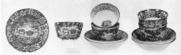 A Set of Baltimore & Ohio Teacups: Made by Enoch Wood & Sons, these show the engine and one passenger coach.