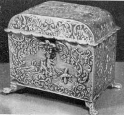 Silver owned by Irving: Sentimental Dutch coffer dating 1835-1850.