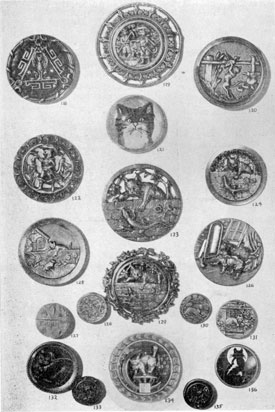 Illustration I: Unusual Buttons With Cat Motif