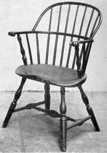 An 18th Century Bow-Back Windsor: Signers of the Declaration of Independence sat in such chairs of which one still survives.