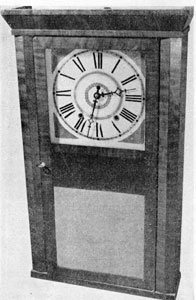 5. Same clock as above, showing a style of mahogany veneered casing favored by Pratt.
