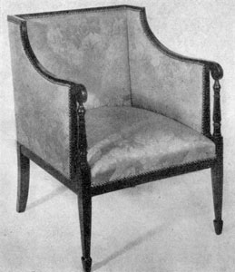 7. American Sheraton chair (see fig. 8, lower left).