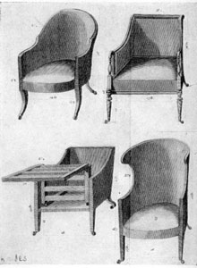 8. Sheraton's Cabinet-Makers' Dictionary, Plate 8.