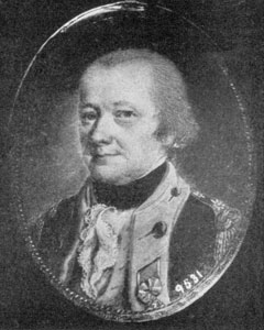Colonel Alexander McDougall, Commander of the First New York Regiment, 1775. Miniature by John Ramage.