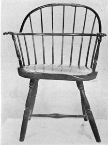 A Farm-Made Windsor: It was made in New Hampshire about 1800-1815. The turned parts were bought at the local general store, the rest fashioned at home.