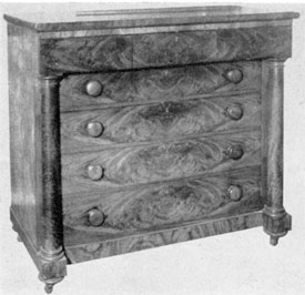 Of the Greek Revival Period: Although its design has some elements of the American Empire, as a whole this piece is in the spirit of the Greek Revival and was made by Mark Pitman, Jr., of Salem.