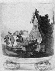 Illustration I: By Johann Schaper: This glass beaker on three round knob feet is a very early example of his work.