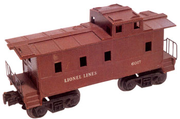 Lionel produced the first of these injection-molded Southern Pacific cabooses in 1948.
