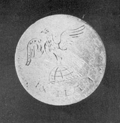 Similar button without markings of the First Regiment.
