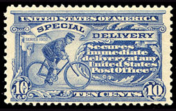 Special Delivery Postage Stamps of the United States - Scott E8 - 10¢ Single-line Watermark USPS