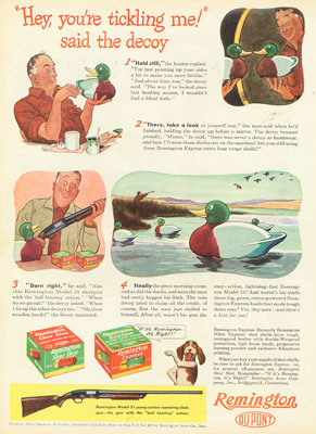 1940s Vintage Wooden Duck Decoy Ad