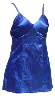 Vintage 30s Royal Blue Stretch Satin 2 Piece Skirted Bathing Suit