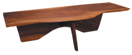 The Slab Coffee Table from the 1940s was one of George Nakashima's earliest designs. Photo courtesy of nakashimawoodworker.com