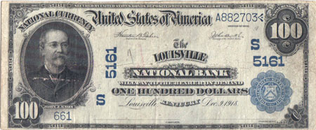 1902 series Louisville, KY $100 note