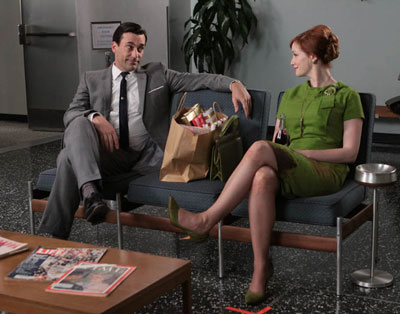 Don Draper (Jon Hamm) and Joan Holloway (Christina Hendricks) in Episode 6.
