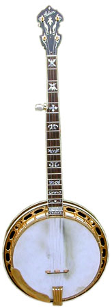A 1933 Gibson Granada Mastertone banjo with its original flathead tone ring.