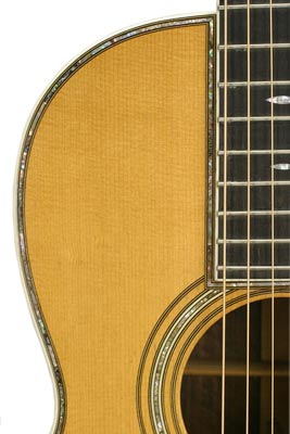 Decorative details were used sparingly on early Martins. This 00-45 from 1927 features abalone inlay around the guitar's outside edge and sound hole.