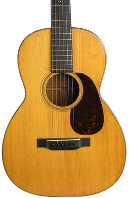 A small upper bout is typical of Martin guitars from the 1930s. This 12-fret, 00-18 is from 1931.