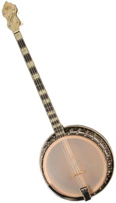 Bacon and Day was renowned for its Dixieland banjos (this Senorita Plectrum Resonator is from 1939), while Gibson banjos were preferred by bluegrass musicians.