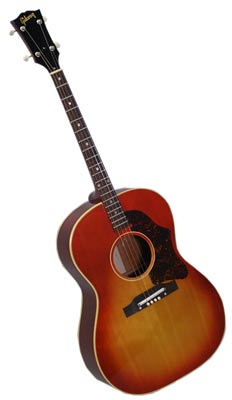 1966 GibsFour-stringed tenor guitars were popular in the 1930s. This Gibson TG-25 is from 1966.on TG-25 Tenor