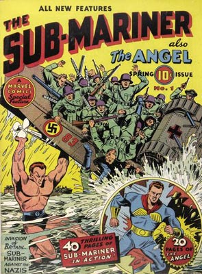 During World War II, superheroes routinely fought the Nazis, as Bill Everett's Sub-Mariner did in the spring of 1941.
