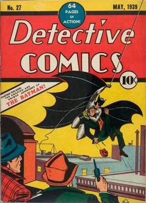 "Batman made his first appearance in issue #27 of ""Detective Comics"" in May of 1939."