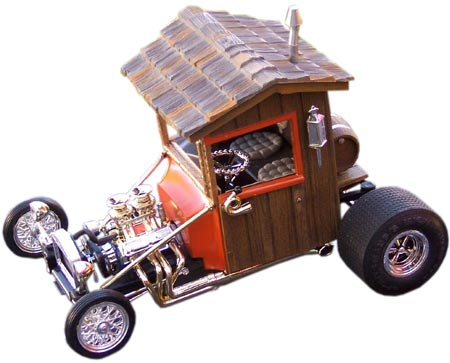 This modified Out House was built by William Clark using parts from T'Rantula, Paddy Wagon, and Vampire Van kits, among others.